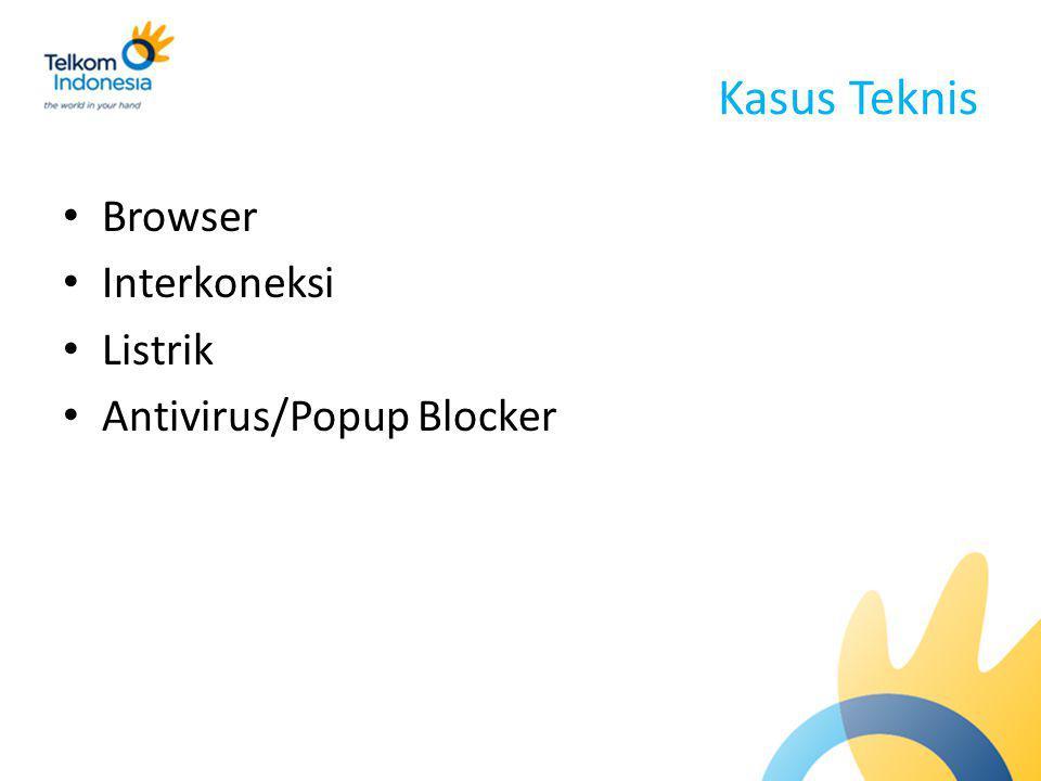 Kasus Teknis Browser Interkoneksi Listrik Antivirus/Popup Blocker