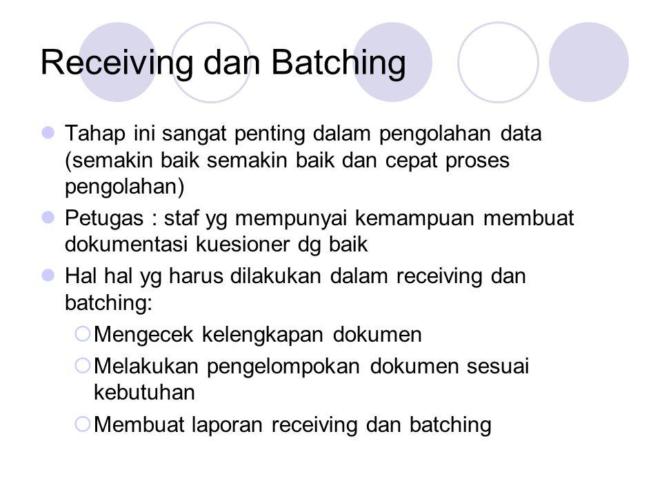 Receiving dan Batching