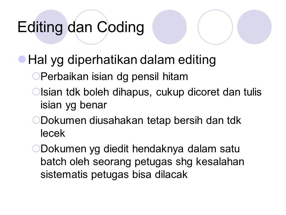 Editing dan Coding Hal yg diperhatikan dalam editing