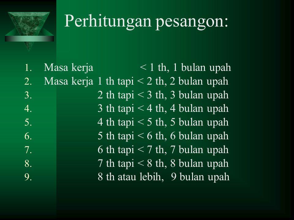 Perhitungan pesangon: