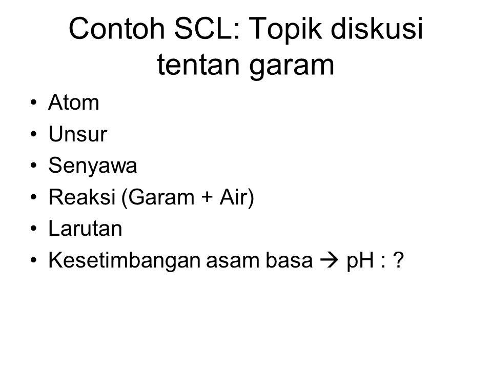 Contoh SCL: Topik diskusi tentan garam