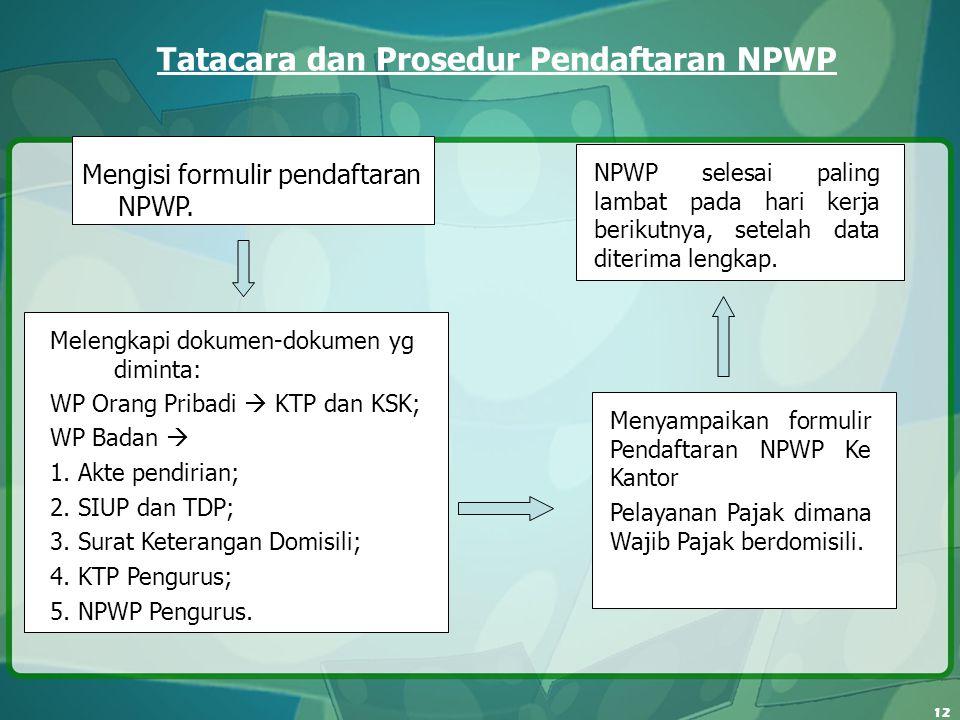 Tatacara dan Prosedur Pendaftaran NPWP