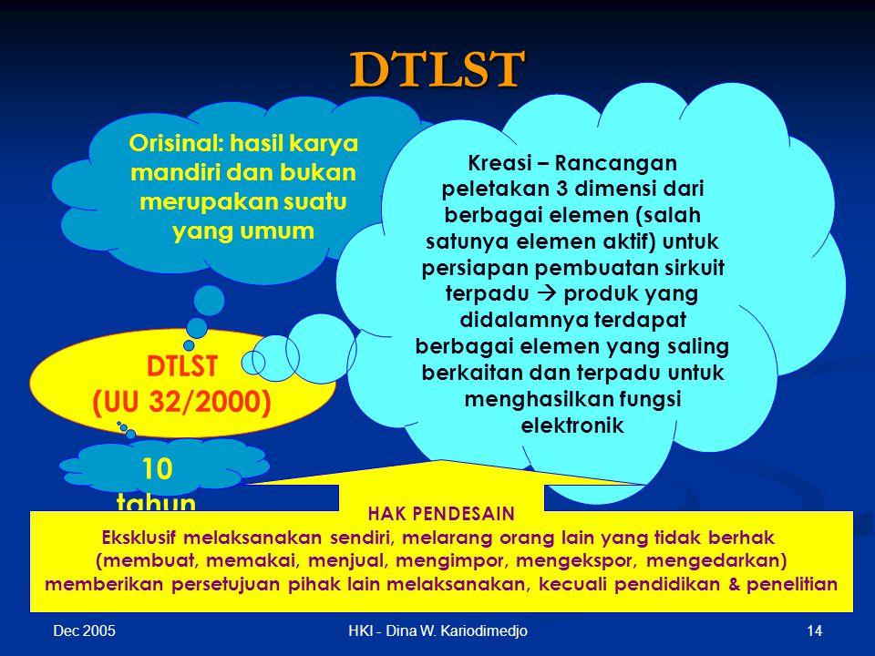 DTLST DTLST (UU 32/2000) 10 tahun