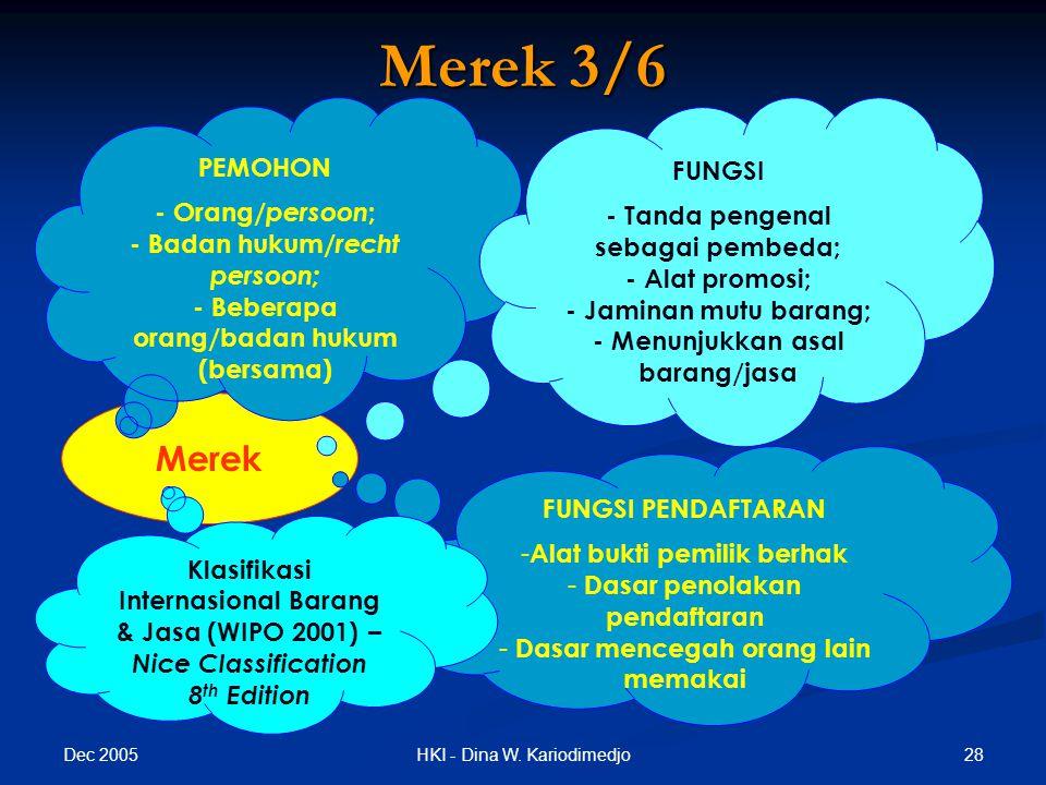 Merek 3/6 Merek PEMOHON FUNGSI - Orang/persoon;