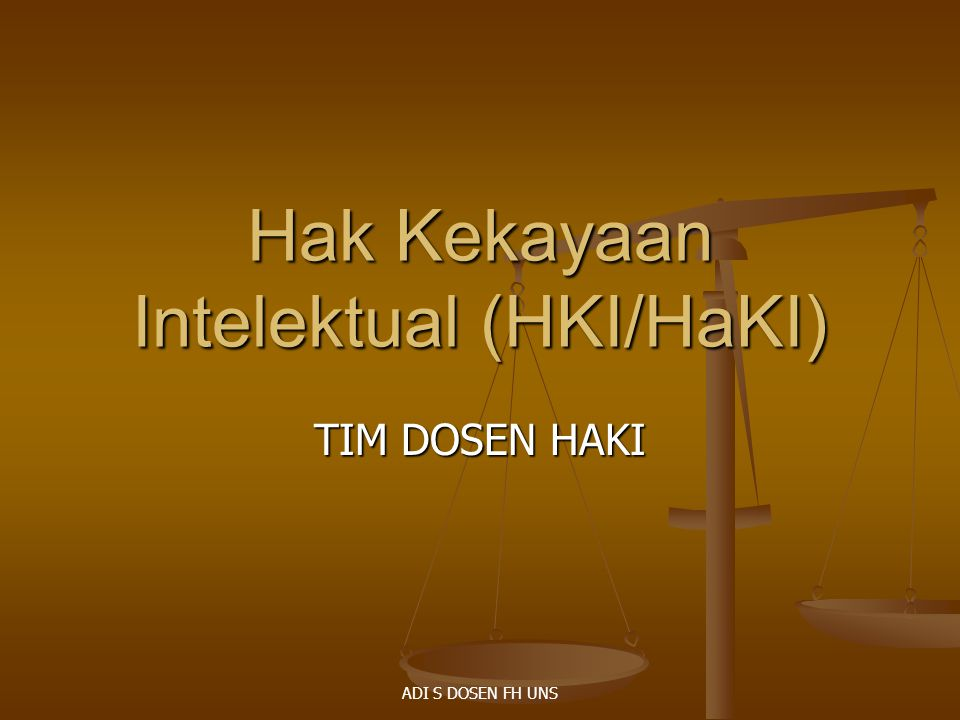 Hak Kekayaan Intelektual (HKI/HaKI)