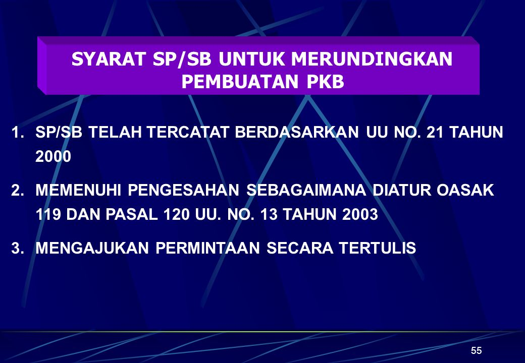 SYARAT SP/SB UNTUK MERUNDINGKAN PEMBUATAN PKB