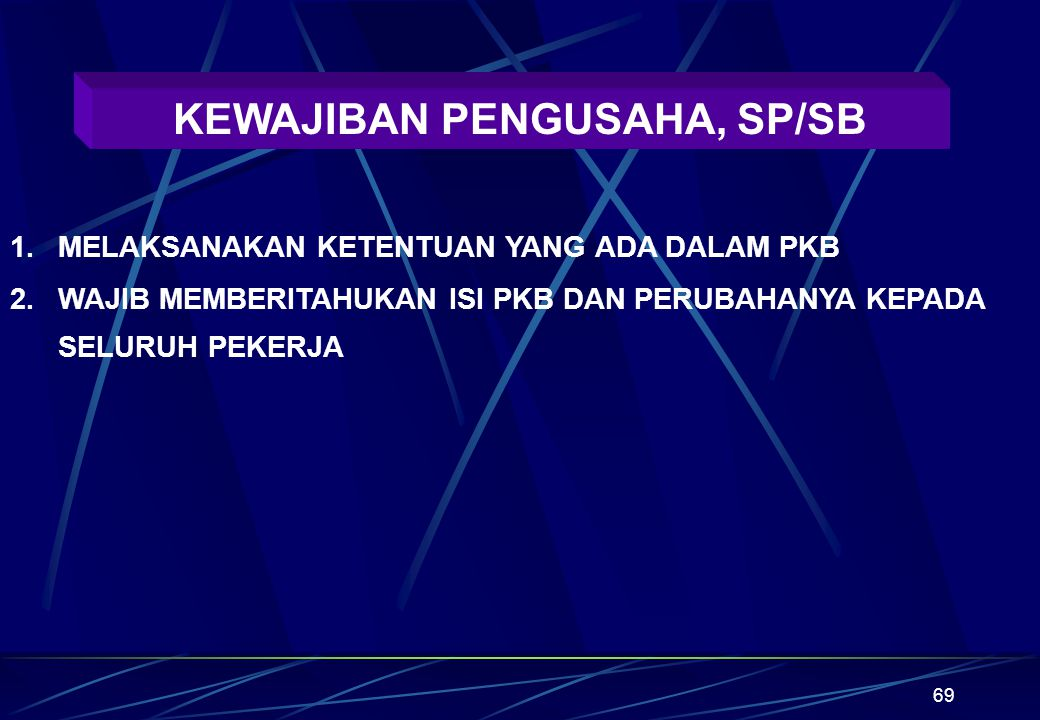 KEWAJIBAN PENGUSAHA, SP/SB