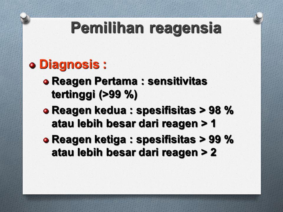 Pemilihan reagensia Diagnosis :