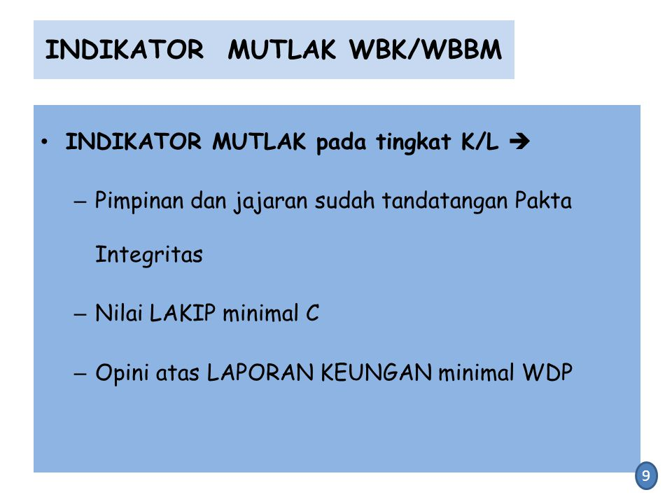 INDIKATOR MUTLAK WBK/WBBM
