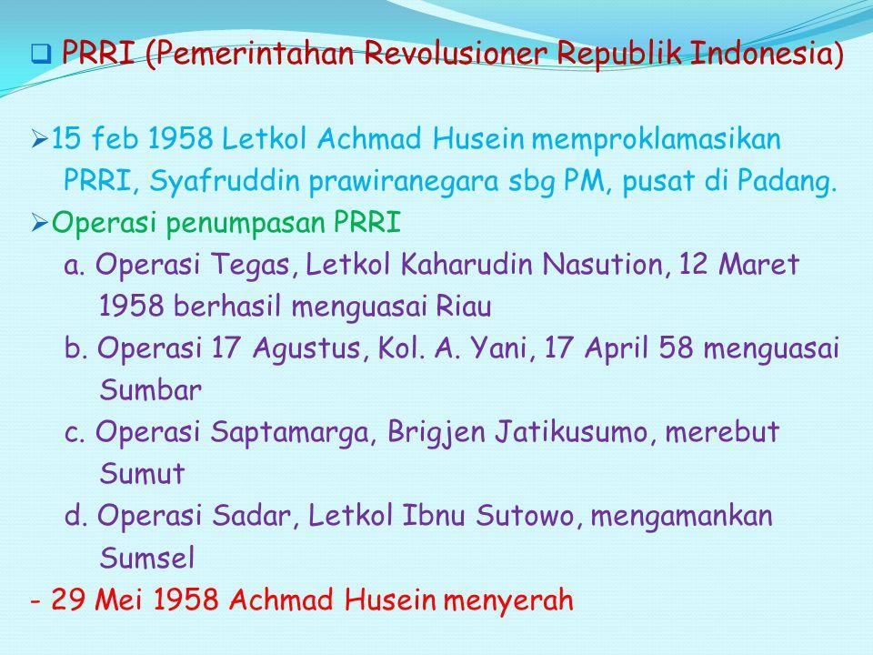 PRRI (Pemerintahan Revolusioner Republik Indonesia)