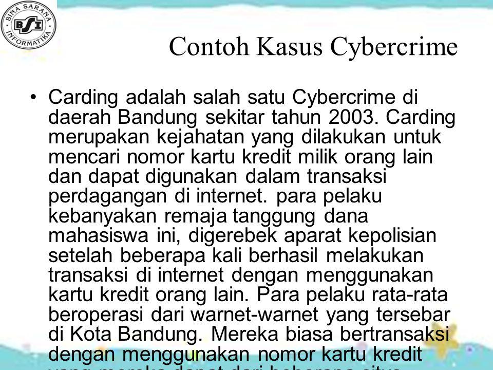 Contoh Kasus Cybercrime