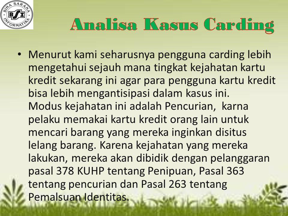 Analisa Kasus Carding