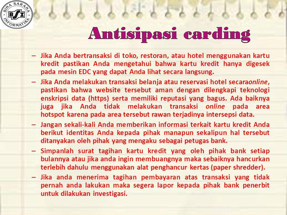 Antisipasi carding