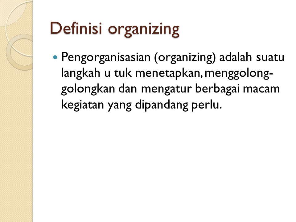 Definisi organizing