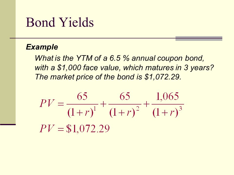 Bond Yields Example.