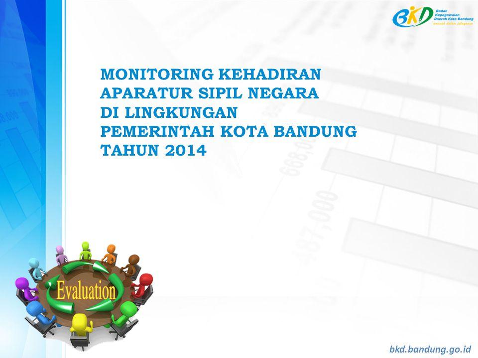 MONITORING KEHADIRAN APARATUR SIPIL NEGARA DI LINGKUNGAN PEMERINTAH KOTA BANDUNG TAHUN 2014