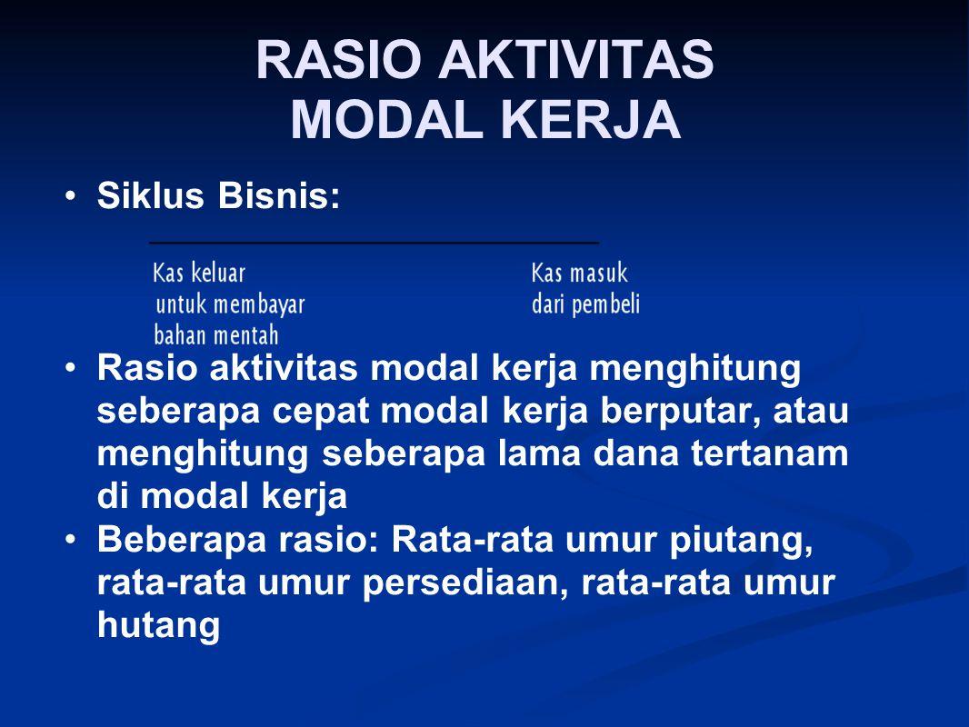 RASIO AKTIVITAS MODAL KERJA
