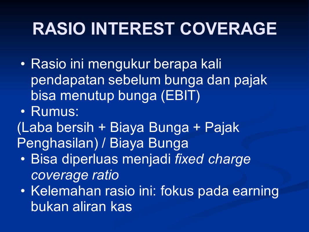 RASIO INTEREST COVERAGE