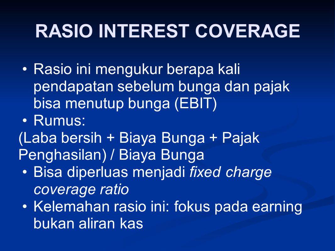 RASIO INTEREST COVERAGE