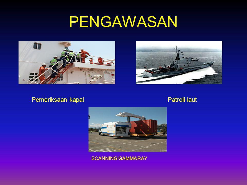 PENGAWASAN Pemeriksaan kapal Patroli laut SCANNING GAMMA RAY