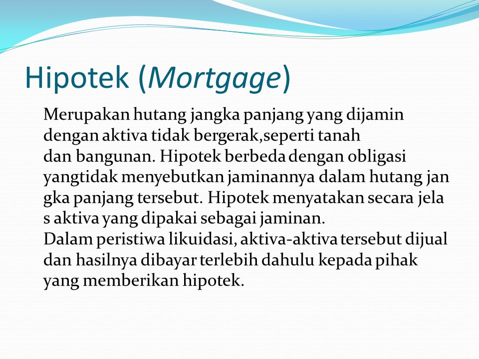 Hipotek (Mortgage)
