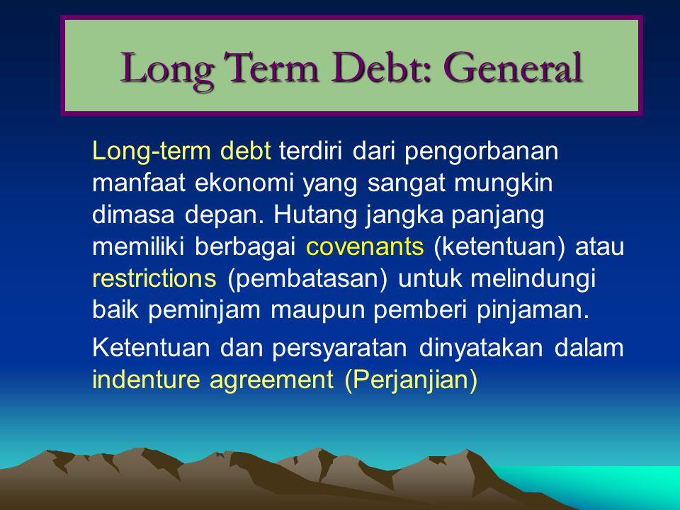 Long Term Debt: General