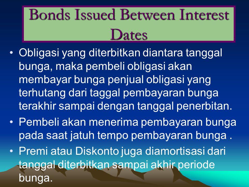 Bonds Issued Between Interest Dates