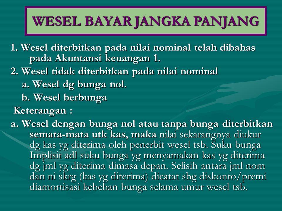 WESEL BAYAR JANGKA PANJANG