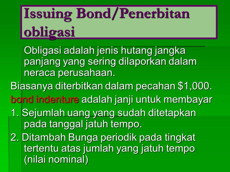 Issuing Bond/Penerbitan obligasi