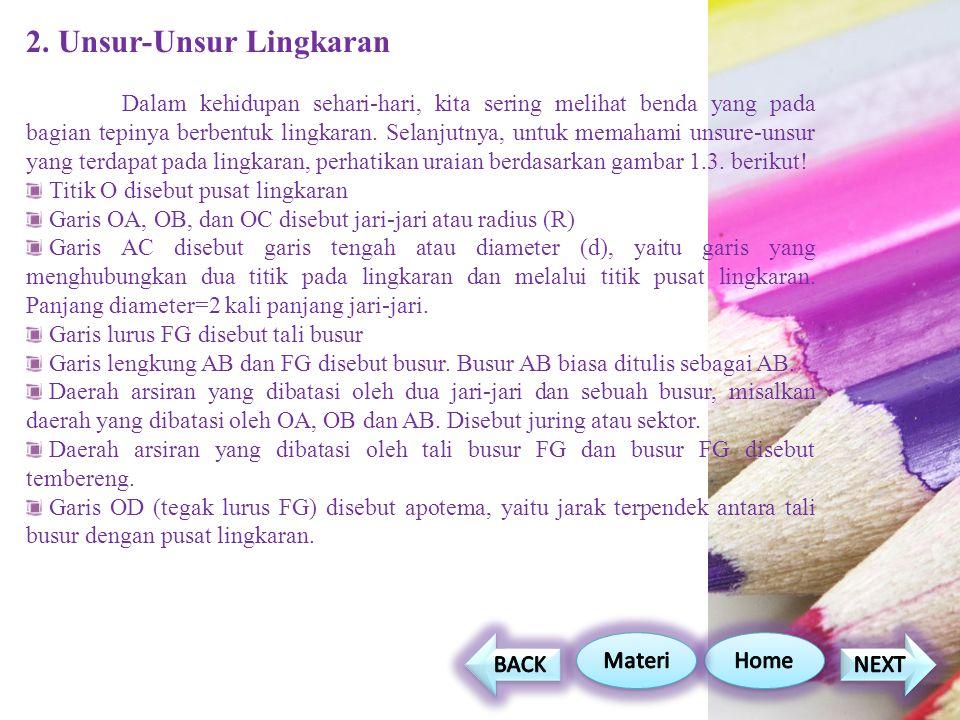 2. Unsur-Unsur Lingkaran