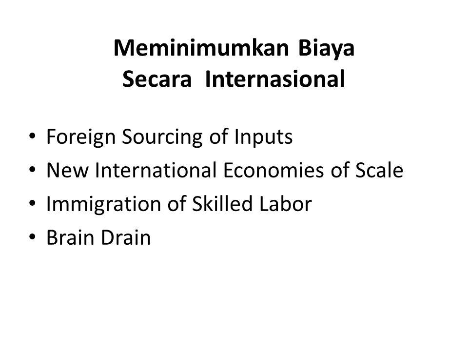 Meminimumkan Biaya Secara Internasional