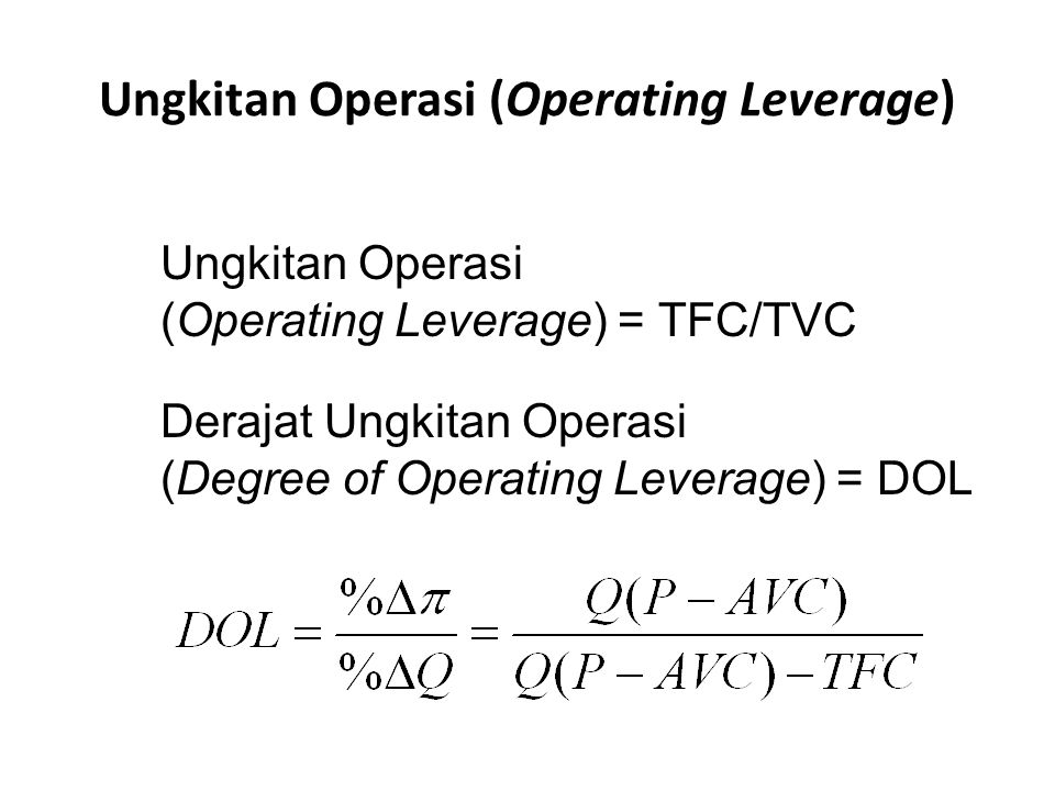 Ungkitan Operasi (Operating Leverage)