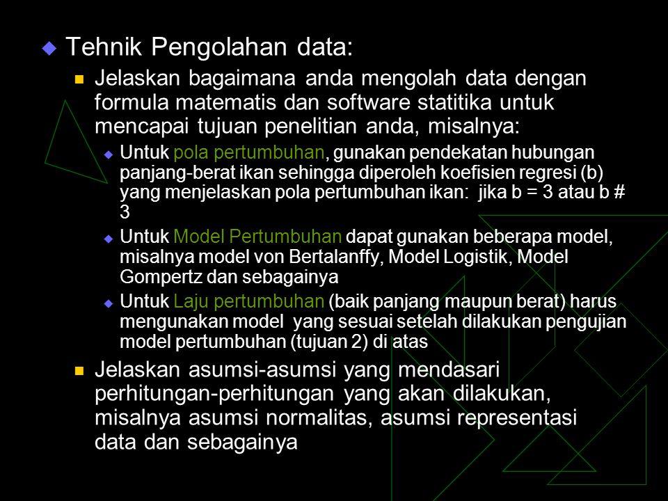 Tehnik Pengolahan data: