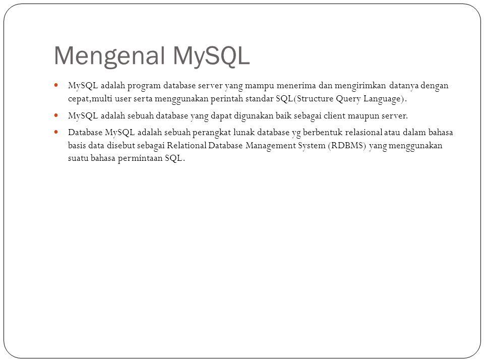 Mengenal MySQL