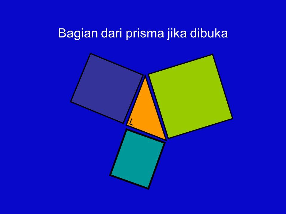 Bagian dari prisma jika dibuka