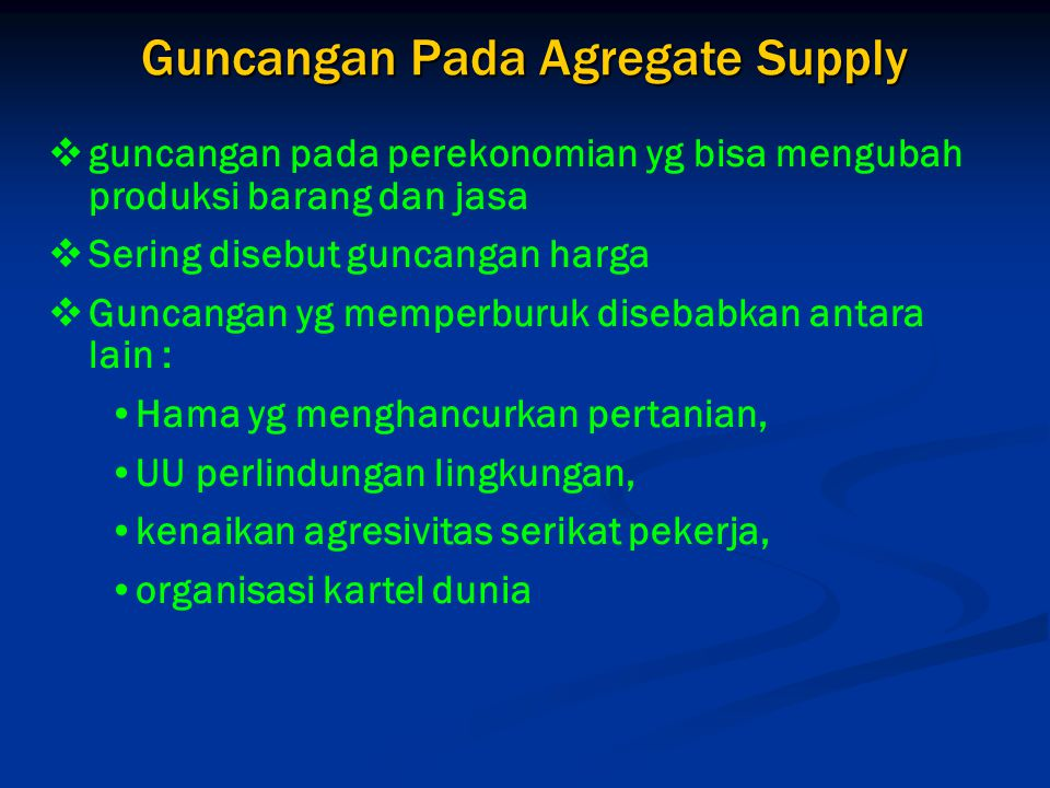 Guncangan Pada Agregate Supply