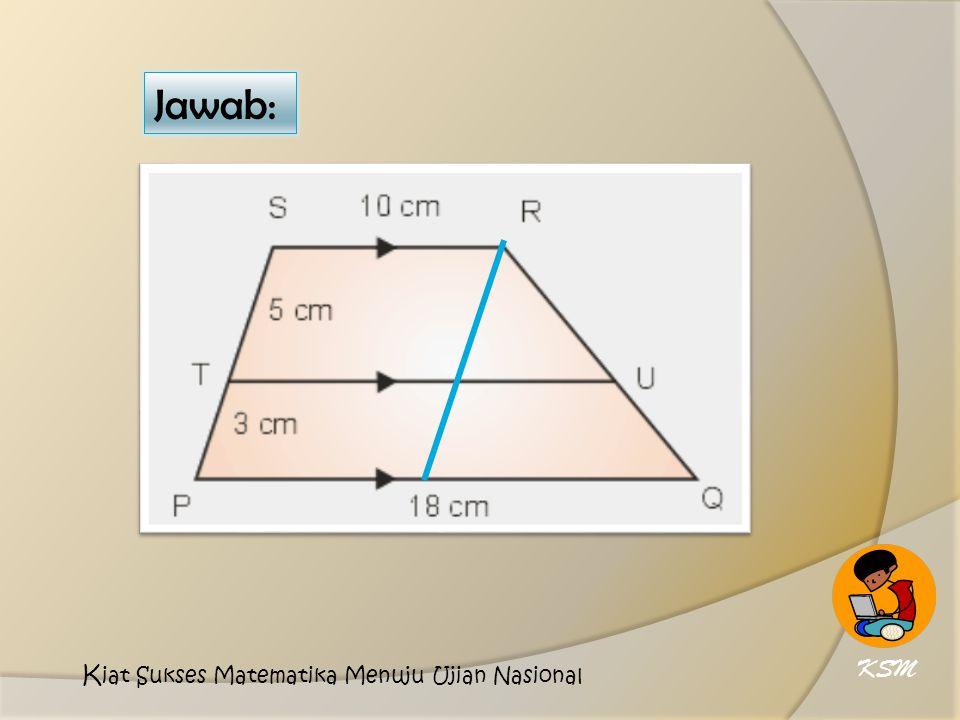 Jawab: KSM Kiat Sukses Matematika Menuju Ujian Nasional