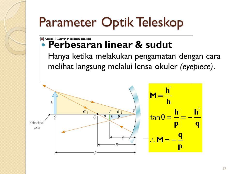 Parameter Optik Teleskop