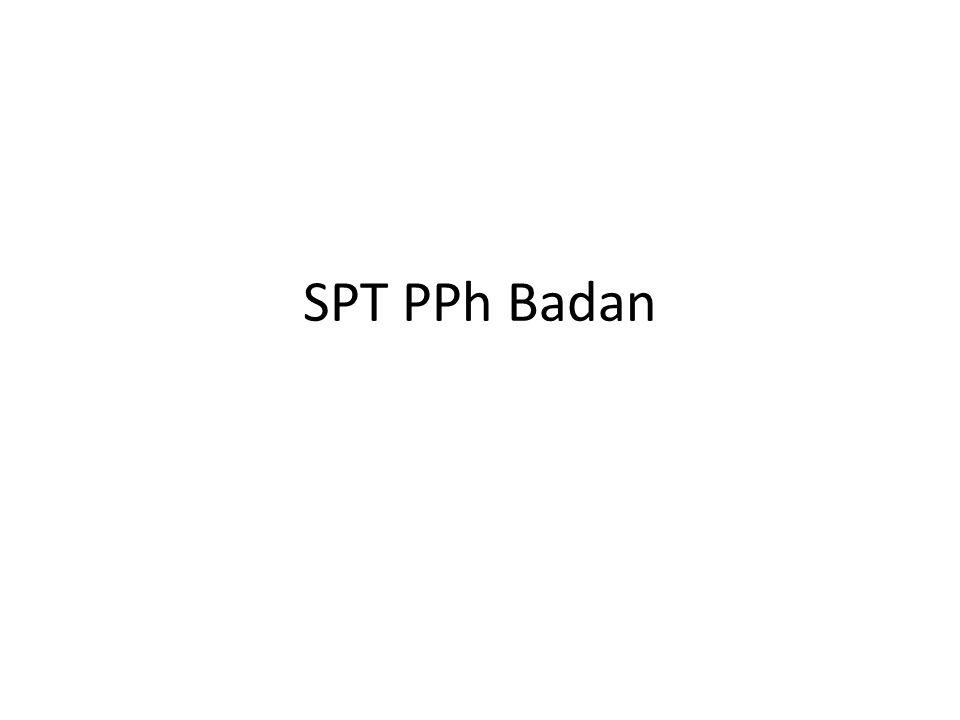 SPT PPh Badan
