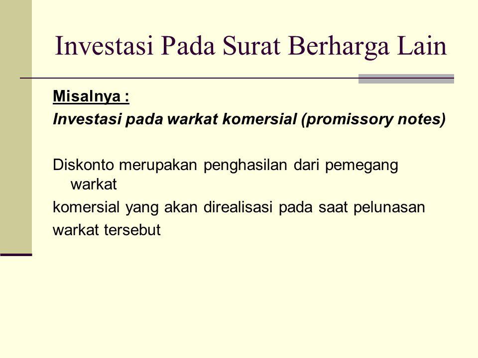 Investasi Pada Surat Berharga Lain