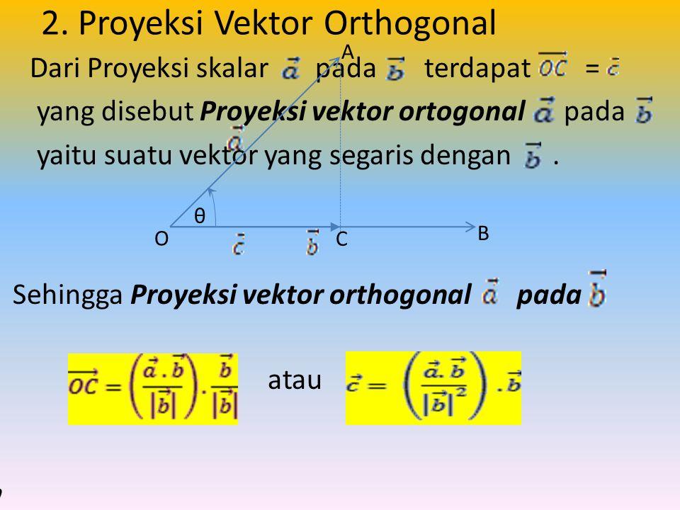 2. Proyeksi Vektor Orthogonal