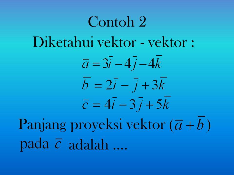 Panjang proyeksi vektor adalah ….