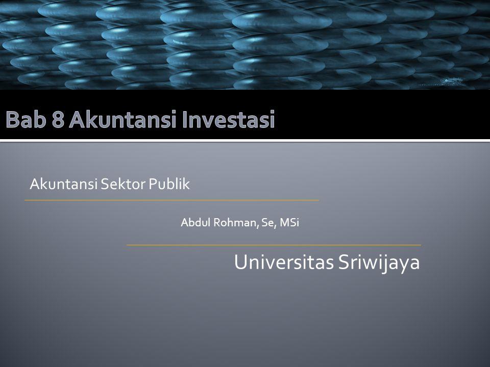 Bab 8 Akuntansi Investasi