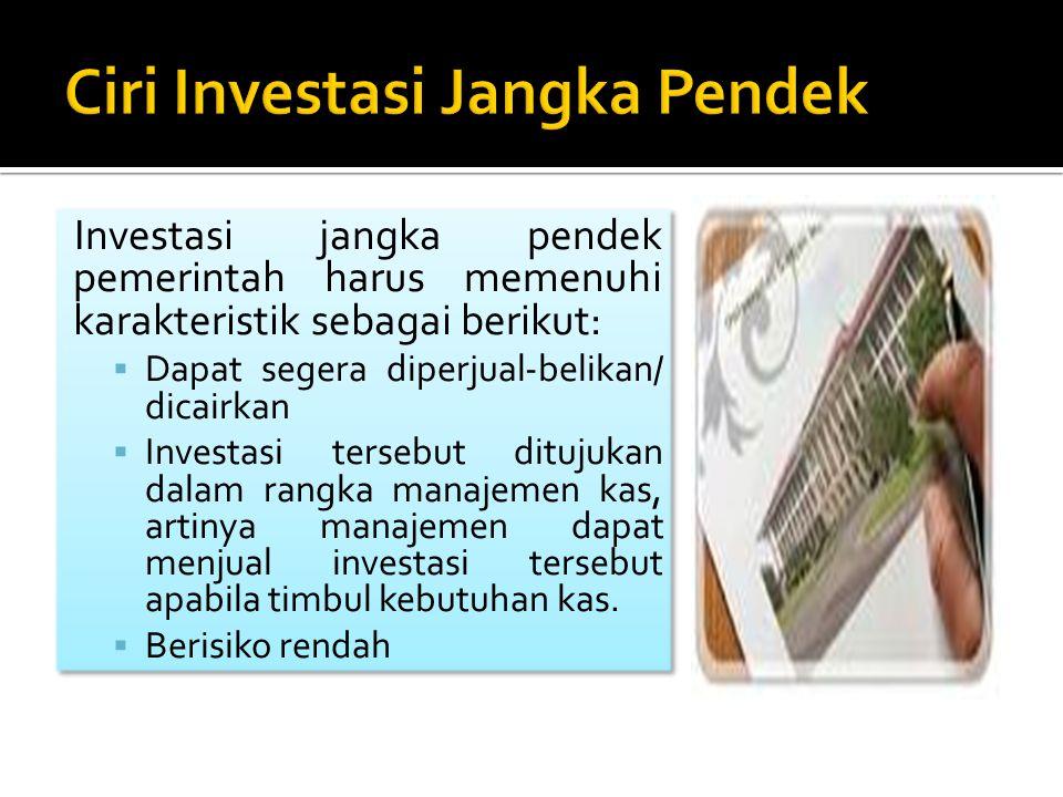 Ciri Investasi Jangka Pendek