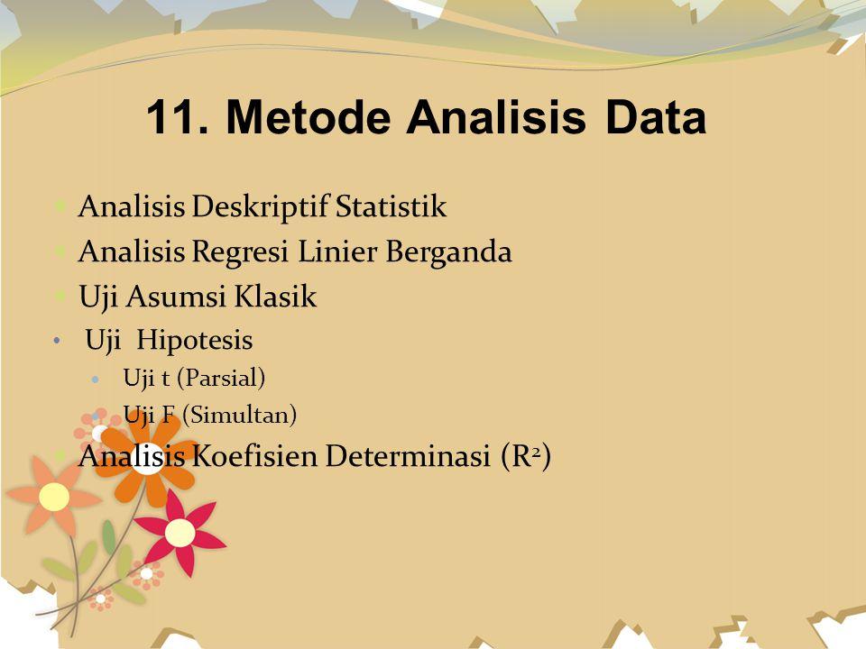11. Metode Analisis Data Analisis Deskriptif Statistik