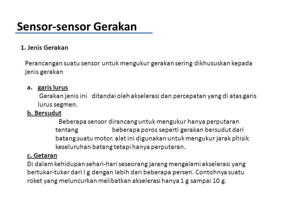 Sensor-sensor Gerakan