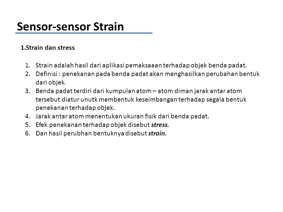 Sensor-sensor Strain 1.Strain dan stress