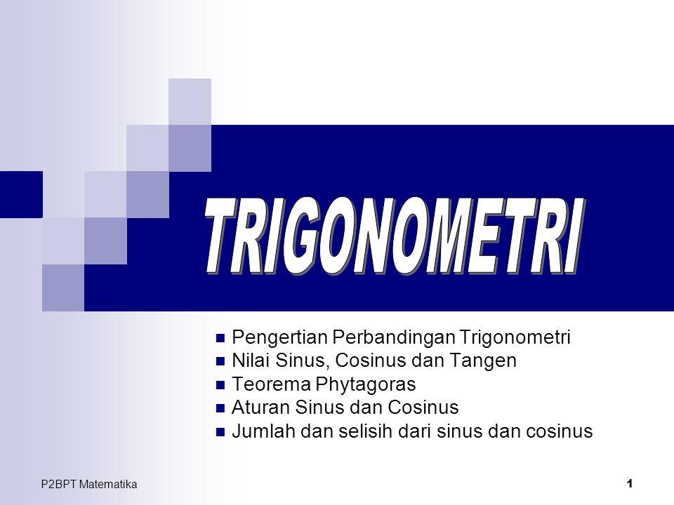 TRIGONOMETRI Pengertian Perbandingan Trigonometri