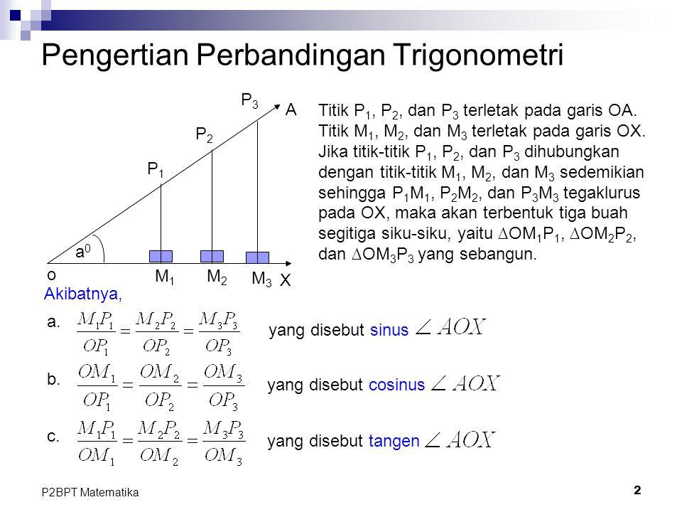 Pengertian Perbandingan Trigonometri