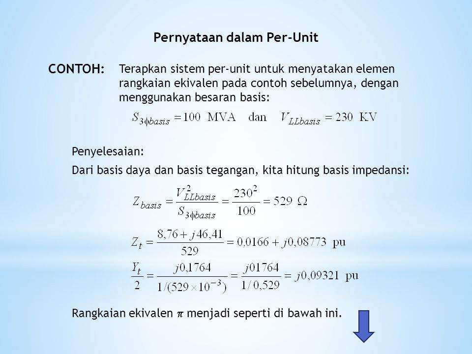 Pernyataan dalam Per-Unit